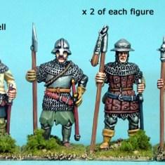 28mm late medieval Polearm men IV
