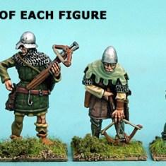 28mm late medieval hussite Crossbow men III