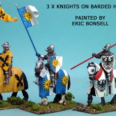 Mounted Knights Barded Horses I
