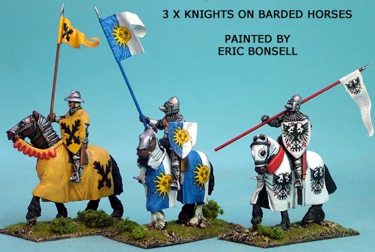 Mounted Knights Barded Horses I