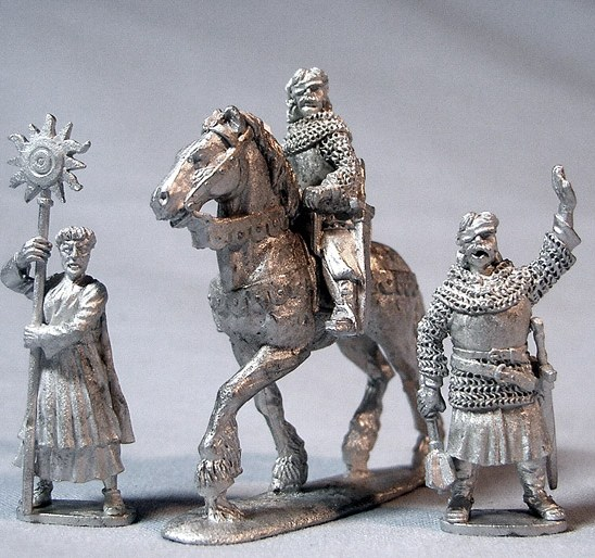Jan Ziska, mounted and foot with Hussite Priest