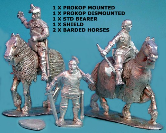 Procop mounted and foot with Standard Bearer