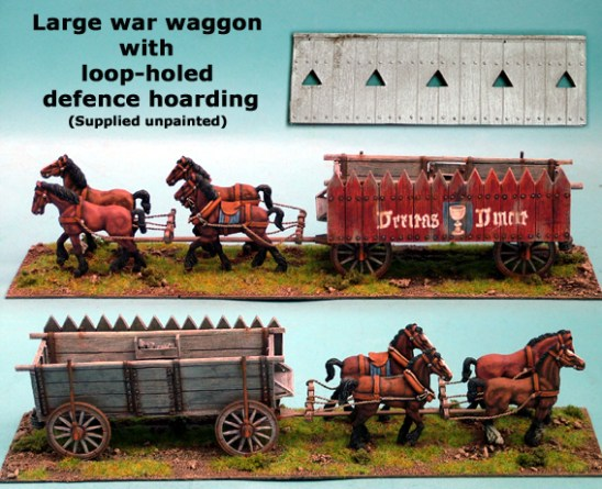 Large War Wagon with Loop Holed Defence Hoarding