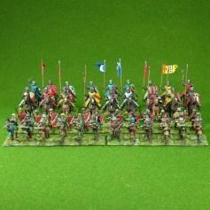 Lion Rampant 24pt Feudal Garrison Starter Army