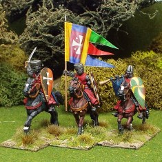 28mm Medieval Mounted Knights/Sergeants. Command