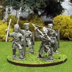 28mm medieval crusader knights with spears