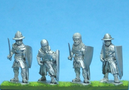 ME55 Foot knights-sergeants ass kettle helms, hand weapons adv