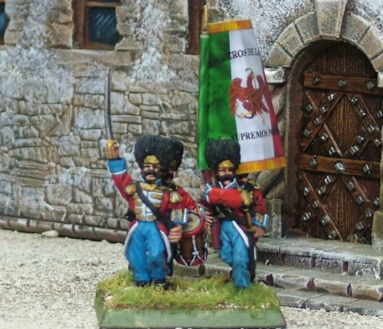 28mm mexican american war Mexican Guards of SP Command