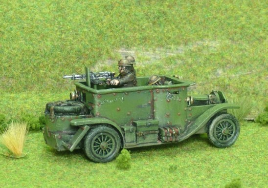 1/48 28mm ww1 belgian Minerva Armoured Car inc 3 crew