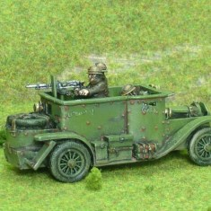 1/48 28mm ww1 belgian Minerva Armoured Car inc 3 crew