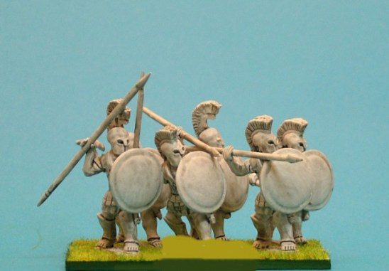 Hoplite attacking over arm.