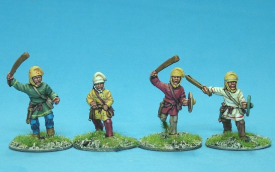 28mm Achaemenid Persian light infantry slingers