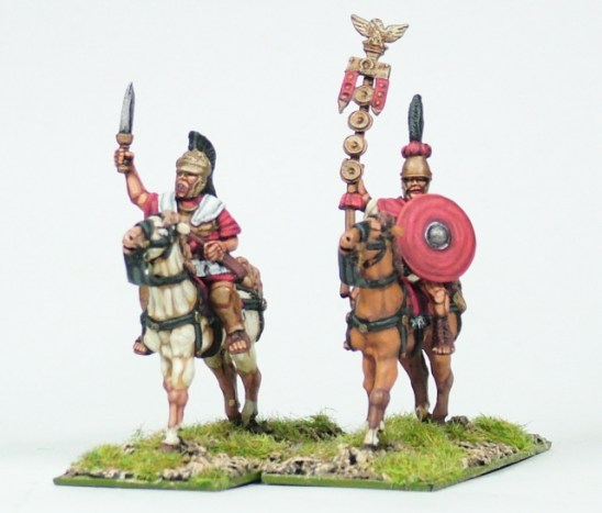 republican roman Scipio Africanus and std bearer.
