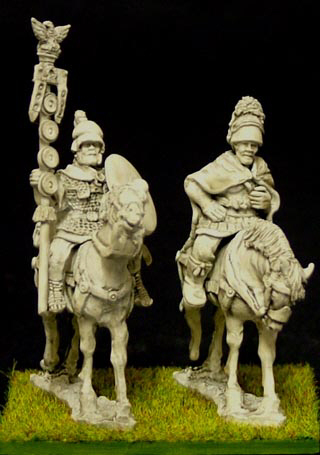 republican roman Mounted General and std bearer.