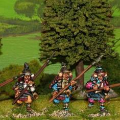 28mm Samurai with yari attacking.