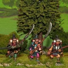 SAM05 Samurai with naginata attacking.