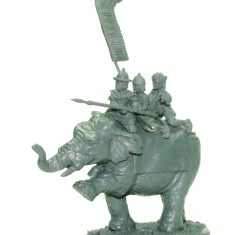 Command elephant ,Noble with spear