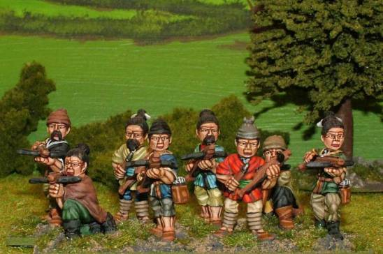 sung chinese Unarmoured crossbowmen.