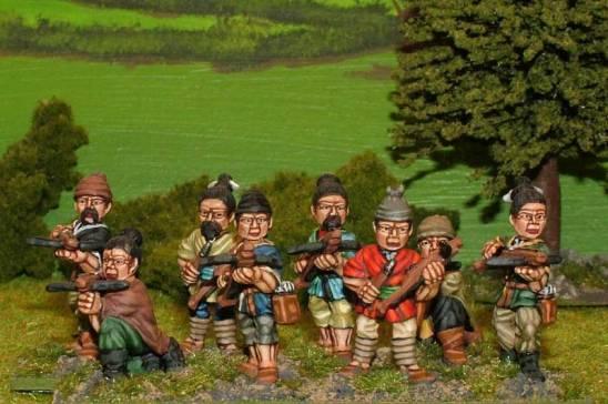 sung chinese Unarmoured crossbowmen.
