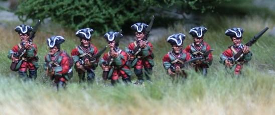 7YW02 British advancing - charging