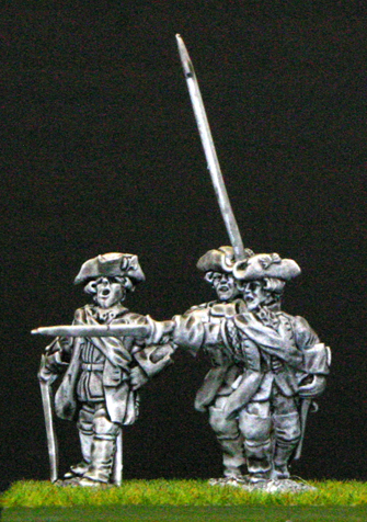 28mm seven years war british infantry command
