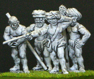 28mm Indian natives & light gun