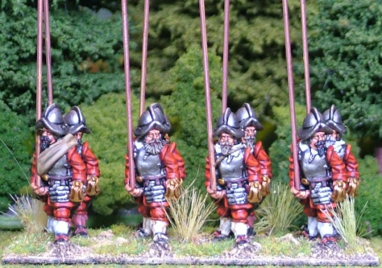 28mm thirty years war Armoured pike men