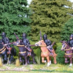 28mm thirty yeras war imperialist Cuirassier with pistols