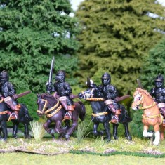 28mm thirty years war cuirassier with swords.