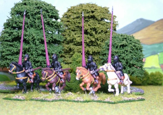 28mm thirty years war imperialist Cuirassier with lance upright.