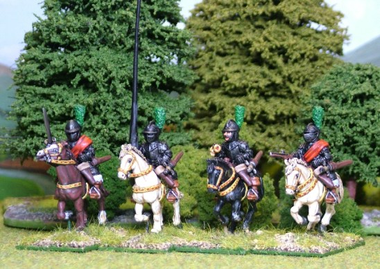 28mm thirty years Cuirassier command.
