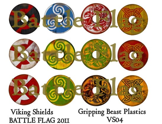 VS04 28mm Viking Shield designs