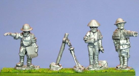 British Mortar and 3 crew