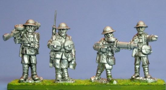 28mm ww1 British Lewis Machine Gunners. British Lewis Machine Gunners. Lewis gunners, 2 teams. 4 figures.