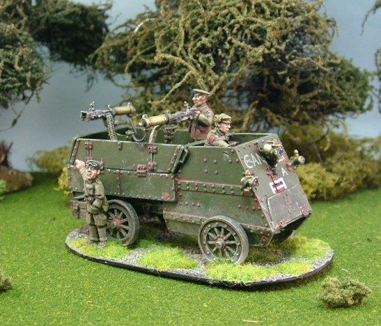 28mm ww1 canadian auto car machine gun carrier