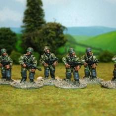German paras with sub machine guns.