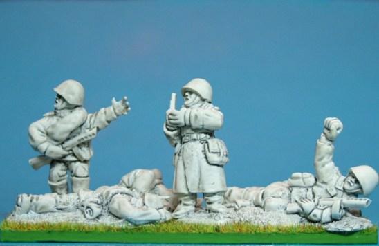 28mm ww2 Russian Command & casualties.