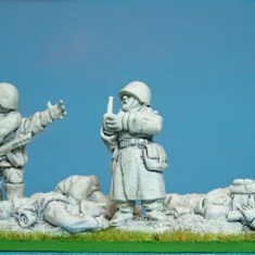 28mm ww2 Russian Command & casualties.