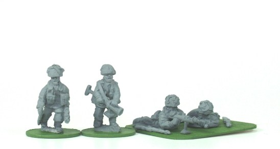 28mm British paras with piat.