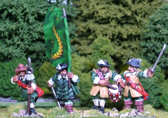 28mm thirty years war Foot command I