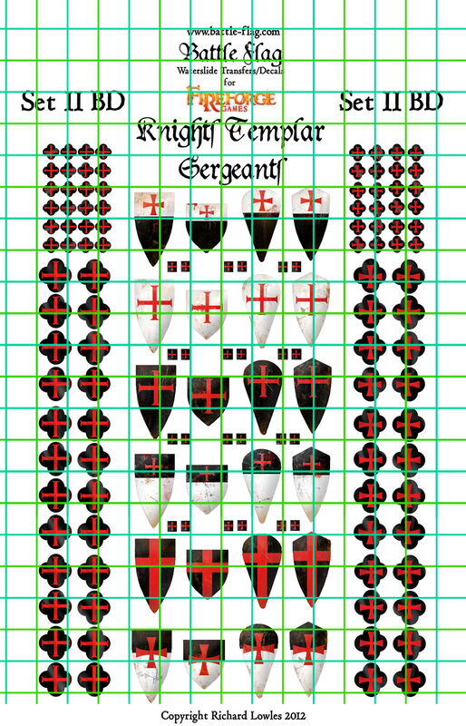 Templar Sergeant Shield Transfer Set 02 (Damaged)