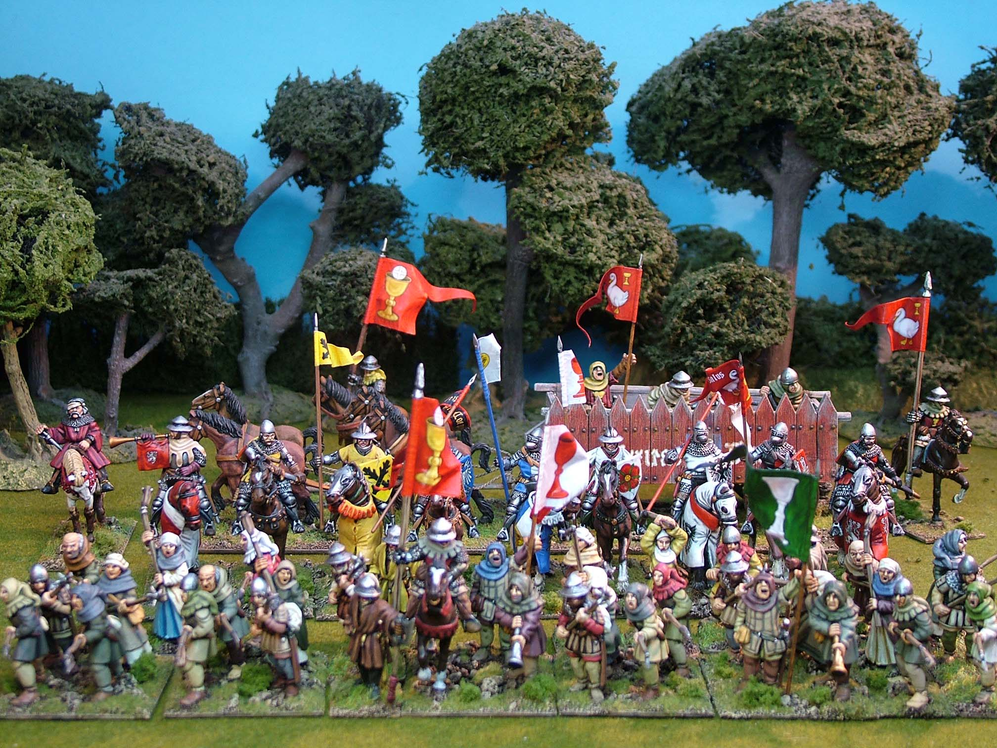 28mm late medieval hussite miniatures