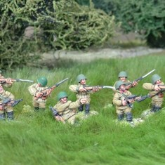 28mm ww2 russian sub machine gun squad