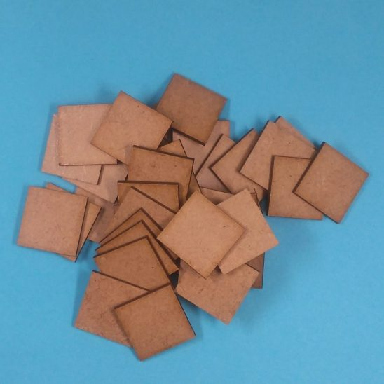 mdf bases 25 x 25 mm