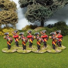 28mm seven years war british firing line
