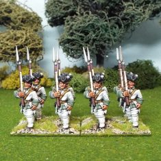 28mm seven years war french infantry marching
