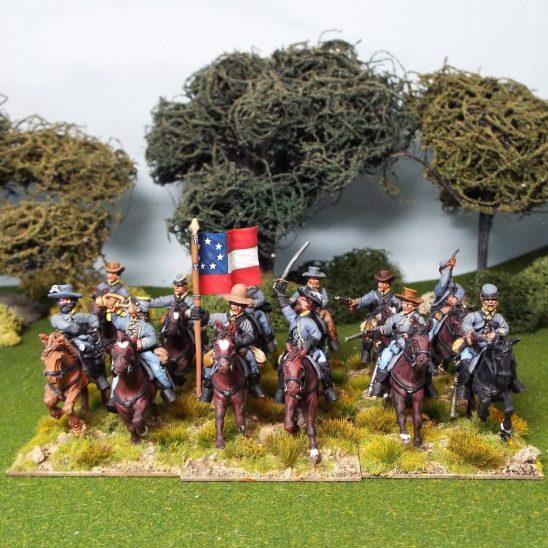 28mm Amerivan civil war confederate cavalry