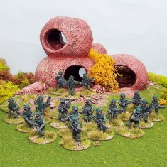 25mm north american platoon colonial troopers starship marines