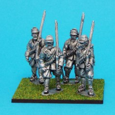 28mm English Civil war Musketeers Marching Wearing Montero Cap