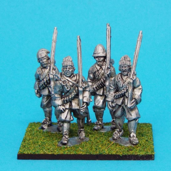 28mm english civil war Musketeers Marching Wearing Monmouth Cap
